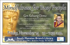 Mindfulness for Busy People @ the South Manatee Branch Library (Manatee County Public Library) Tags: county library libraries manatee govt manateecounty manateecountypubliclibrary manateecountypubliclibrarysystem manateelibrary manateecountylibrary librarycalendar mcpls manateecountygovernment wwwmymanateeorg