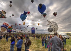 fiesta panorama (JoelDeluxe) Tags: newmexico balloons fiesta hotair balloon shapes albuquerque special international nm mass joeldeluxe hdr ascension aibf 2014