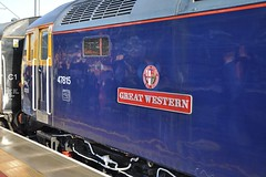 """Riviera Trains Blue Class 47/8, 47815 """"Great Western"""" (37190 """"Dalzell"""") Tags: rugby spoon railtour duff greatwestern class47 oxfordblue 47815 brush4 rivieratrains class478 pathfindertours thebluebelle"""