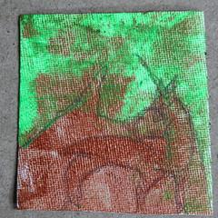 Two (Etching Stone) Tags: portrait test stone pencil ink perception cut progress rorschach spot dot canvas hide subject seek unicorn daler canvass blot psychological rowney    prewarart