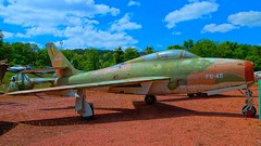 Republic F-84F-56-RE Thunderstreak 52-7210 in Savigny-les-Beaune (J.Comstedt) Tags: aircraft aviation museum musee chateau savigny les beaune france republic force air johnny comstedt