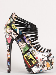 "comic print strappy open toe platform rainbow • <a style=""font-size:0.8em;"" href=""http://www.flickr.com/photos/64360322@N06/15506885151/"" target=""_blank"">View on Flickr</a>"