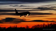 The last photo of the day (Nick Air Aviation Photography) Tags: img9979 sunset airport landing aviationphotography nickairphotography milanolinatecityairport sunsetatairport warmcolors spottinginthedusk