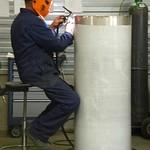 Het aflassen van een RVS Stoomafblaasdemper