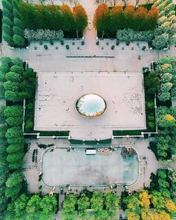 Over Chicago's Millennium Park