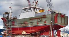 2017-03-25 F/V Flicka (2048x1100) (-jon) Tags: anacortes fidalgoisland sanjuanislands skagitcounty skagit washingtonstate salishsea guemeschannel portofanacortes dci dakotacreekindustries drydock boat ship vessel trawler flicka fvflicka shipyard boatyard paint repair capemay newjersey wdi5385 mmsi366929110 hlaxelsson a266122photographyproduction 669492 coastalalaskapremierseafoods coastalvillageslongline fvflickallc anchorage alaska commercial fishing refit rebulit modified rudder propeller hull newtokak newtok