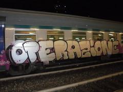 operazione treni puliti liguria!! (en-ri) Tags: bianco lilla viola train torino graffiti writing