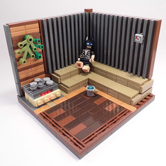 Life is hard. Very, very, very, very-very-very-very-Very-Very-Very HARD! (fuggoo) Tags: lego batman legobatmanmovie moc sauna experience chill chillout relax spa hard life toy photography batm batmanmovie weekend wellness
