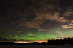 Nightscape (grus_p) Tags: auroraborealis northernlights night nightscape sky stars clouds march spring silhouette trees luminanceboréale finland