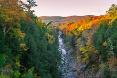 Quechee Gorge VT. (jlucierphoto) Tags: foliage vermont forest landscape autumn river gorge quechee