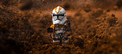 When you ask for trouble, you should not be surprised when it finds you. (Lego_LUTs) Tags: green yellow storm trooper star wars war lego outdoors clone troopers first order blasters afol minifigs minifigures bricks blocks canon toy toys force legos t3i republic people photoadd atst death rogue one dirt practical effects orange