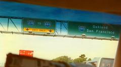 img450 Interstate 580 highway sign - Oakland and San Francisco (kalihikahuna74 (OkinawaKhan808)) Tags: cali california thebay bayarea vacation trip august 1997 1990s 90s analog predigital camera scanned scan old oldschool school pointandshootcamera pointandshoot us america unitedstates unitedstatesofamerica sanfrancisco san francisco stateside
