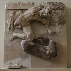 "Delphi, The Athenians' Treasury Metopes – Herakles Cycle, 9 (egisto.sani) Tags: delfi museo metopes metope herakles heracles eracle ""hind ceryneia"" ""cerva di cerinea"" ""archaic period"" arcaico periodo art arte arcaica period treasury tesoro ""athenians treasury"" ""tesoro degli ateniesi"" phocis focide delphi ""archaeological museum"" ""museo archeologico"""