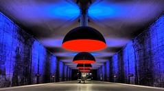 München Subway (stefan.lafontaine) Tags: europe münchen subway westfriedhof bavaria bayern library germany architecture urban colourful olympus em1 zuiko pro 8 mmm