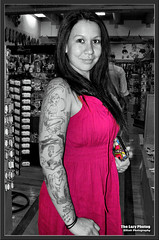 Aug 2010 - Beautifully tattooed young woman at Garden of the Gods (La_Z_Photog) Tags: lazy photog elliott photography colorado springs garden gods beautiful tattoos ink girl woman selective color