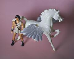 Perseus and Pegasus (skipthefrogman) Tags: skipbro custom art action figure clash titans perseus pegasus vintage 80s figures
