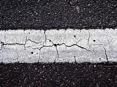 white line on the highway (friendlydrag0n) Tags: white line black asphalt cracks rothkoesque