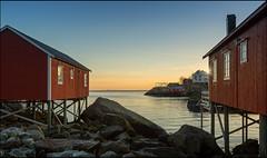 N o r w a y (jeanny mueller) Tags: norway norge norwegen arctic winter lofoten nussfjord storvatnet rorbue sunset sea seascape landscape
