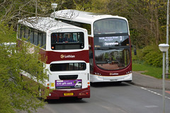 719 & 403 (Callum's Buses & Stuff) Tags: gemini lothianbuses edinburgh madderandwhite edinburghbus volvo b7tl madderwhite madder mader bus buses busesedinburgh buseslothianbuses sn56aaf lothian lothianedinburghedinburgh gemini3 dalry haymarket b5tl