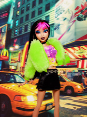 Modeling Madness Special Edition (Episode 7): New York- Nashé (sailorb1959) Tags: scene neon new york times square city gerl gurl fur mommy doll femme fatale mattel