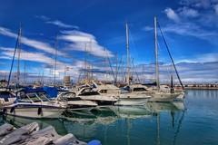 Puerto deportivo de Ceuta 3 (anyera2015) Tags: ceuta canon canon70d puerto barco velero nublado nubes puertodeportivo