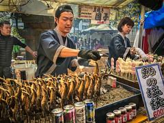 Food Vendors (USpecks_Photography) Tags: foodvendor fish fishonastick uenopark tokyo japan streetphotography peopleoftheworld