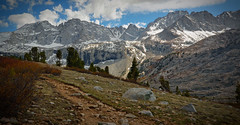 Take the long way home (E.R.M .) Tags: highsierra sierracrest sierranevada landscape mountains snow trail path hike backpacking jmt johnmuirwilderness california