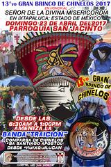 GRAN BRINCO DE CHINELOS EN IXTAPALUCA FIESTAS PATRONALES DE LA DIVINA MISERICORDIA PARROQUIA SAN JACINTO (crisgam) Tags: ixtapaluca chinelos granbrinco fiestaspatronalesixtapaluca señordeladivinamisericordia estadodemexico bandatraicio 23abril2017