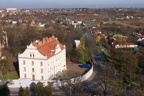 Perspektywa ulicy Zawichojskiej w Sandomierzu z Bramy Opatowskiej
