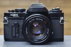 Sears KSX Super (Ricoh KR-10) (Arne Kuilman) Tags: sears kr10 ksxsuper ricoh license camera slr kit marktplaats sale autosearsmc inlicentie madeinjapan lr44 kmount lens front