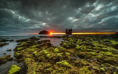 Kissing the sun (marcolemos71) Tags: seascape sea water atlanticocean rocks stones seaweed sky clouds sunset longexposure lowpov leefilters leend09h leend06s leelandscapepolariser mosteiros sãomiguel açores portugal marcolemos
