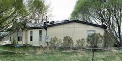 Redneck Roofing (Eyellgeteven) Tags: roof rooftop repair tires tire roofrepair kludge cinderblock brick tarp leaky leakyroof modularhome redneckengineering eyellgeteven home house roofing