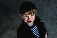 My little French boy (The Ultimate Photographer) Tags: french boy son coat countryside stripe jumper blue portrait canon7dmarkii blueyes cuteboy male cardy frenchcoat bleu francais garcon fils marin rayure canon