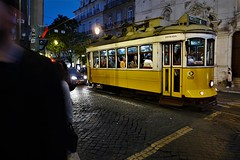feeling like a stranger in my own city (*F~) Tags: lisboa portugal easter holiday people humans tourists tramway chiado light night nocturne yellow electrico 28
