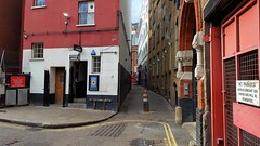 "Hanging Around For The ""Girls"" (standhisround) Tags: theatre phoenixtheatre building alleyway alley soho charingcrossroad staceystreet architecture buildings stagedoor london uk theatreland"