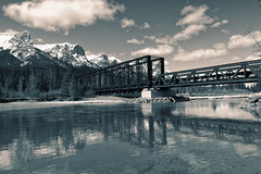 Shot over the Bow - Engine Bridge (Edna Winti) Tags: ednawinti canmore alberta enginebridge bowriver