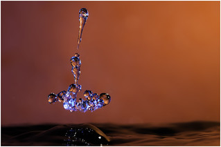 Macro Monday's (Option) - Orange and Blue - Water Drop