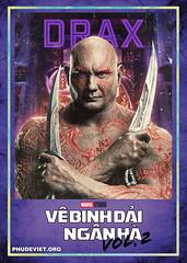 GOTG 2 - DRAX (nam fullbuster) Tags: guardians galaxy vol 2 poster characters việt hóa nam lê yondu rocket nebula mantis gamora ego drax baby groot ayesha