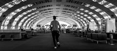 Killing Time (Image #4) (Matthew Johnson1) Tags: airport cdg charlesdegaulle paris running run late france flight departure departures canon wideangle hope chasing