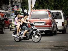Squashed (Beegee49) Tags: motorcycle three squashed riding street bacolod city philippines