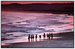 Glad to be Alive! (juliewilliams11) Tags: beach sea ocean april autumn sunset pink gnd filter cokin portstephens newsouthwales australia water camels contrast people evening light landscape
