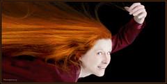Super Redhead (Cliff Michaels) Tags: nikon photoshop pse9 angela model redhead beautiful sexy flying nikond50