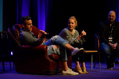 Buffy actors (James O'Hanlon) Tags: wales 2017 comic con wrexham opie ryan hurst game thrones mick foley lita amy dumas john rhys davies buffy event photos pictures
