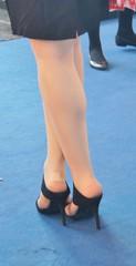 Cebit 2015 - Welcome Hostesses (highangel1) Tags: high heels pumps stilettos hohe absätze nylons stockings füse schuhe shoes walk girl woman street streetshot candid strase gehen stöckelschuhe legs beine boots stiefel frau mädchen business geschäftsfrau ankle messe hostess fair cebit 2015