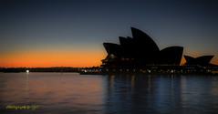 Sydney Opera House (All types of Photography by CJC) Tags: night travelaustralia travel sunrise sunset orange australia sydneyharbour water operahouse sydney
