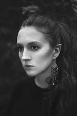 Simplicity (Ella Ruth) Tags: portrait self selfportrait hairup browneyes earrings jewellery dark moody cheekbones monochrome blackandwhite silver closeup headshot naturallight highiso grain grainy photographer shrewsbury shropshire leicester 50mm 14 d750 ellaruth