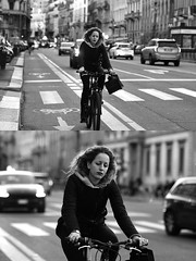 [La Mia Città][Pedala] (Urca) Tags: milano italia 2017 bicicletta pedalare ciclista ritrattostradale portrait dittico bike bicycle biancoenero blackandwhite bn bw 993139 nikondigitale scéta