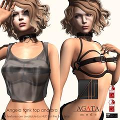 Angela Tops @ On9 (*AGATA mode* Sora Tatham) Tags: on9 secondlife fashion agatamode agata monthly event sexy bra tanktop