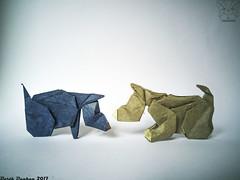 Sniff - Barth Dunkan (Magic Fingaz) Tags: anjing barthdunkan chien chó dog hond hund köpek origami origamidog perro pies пас пес собака หมา 개 犬 狗