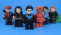 Titans (MrKjito) Tags: lego minifig dc rebirth custom super hero titan arsenal donna troy nightwing flash tempest omen team teen forgoten comic comics titans